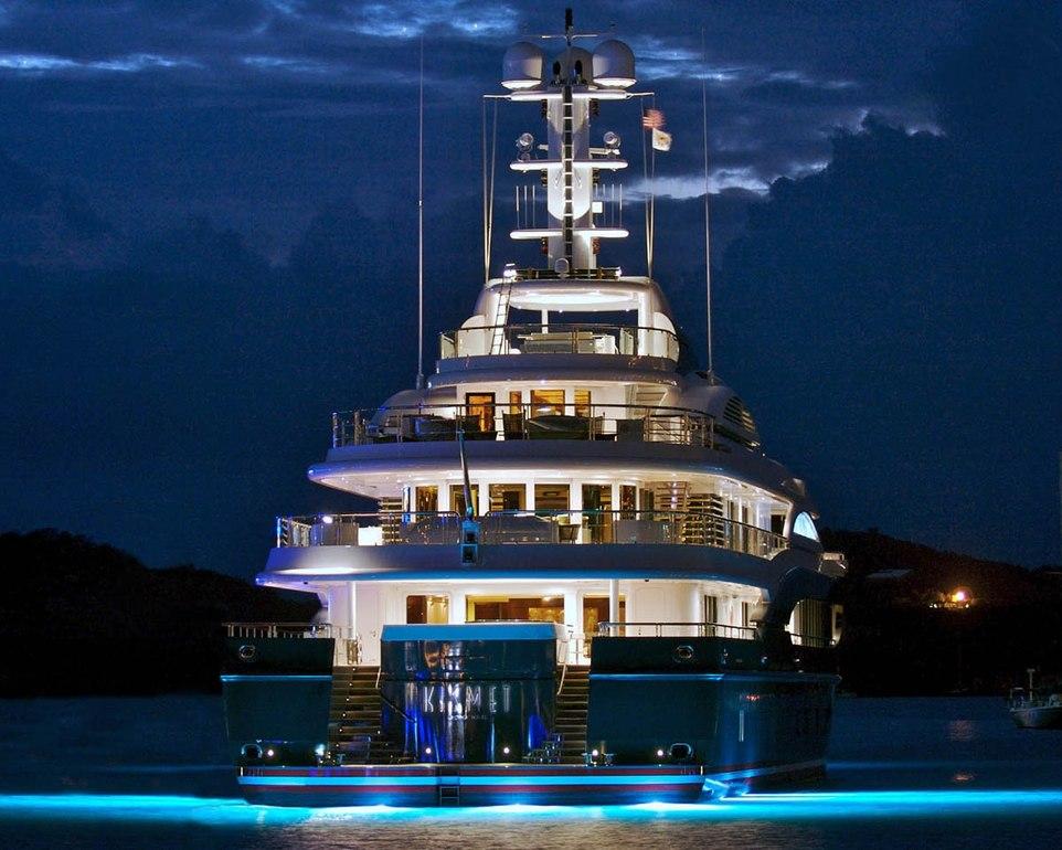 Yachts At Night KISMET Charter Yacht A...