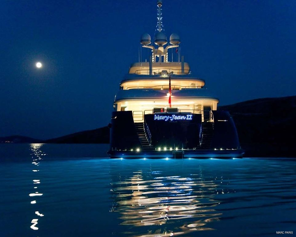 Yachts At Night 'Mary-Jean II' Charter...