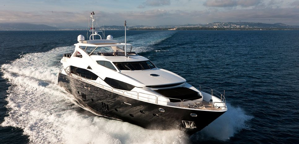 Black and White Charter Yacht