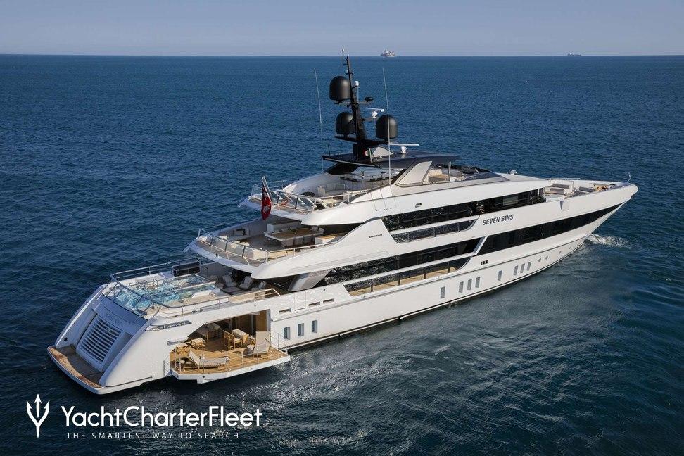seven sins yacht charter price sanlorenzo luxury yacht charter