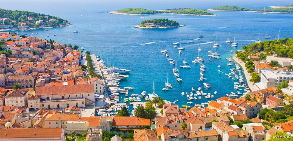 Cruise to the Port of Hvar island