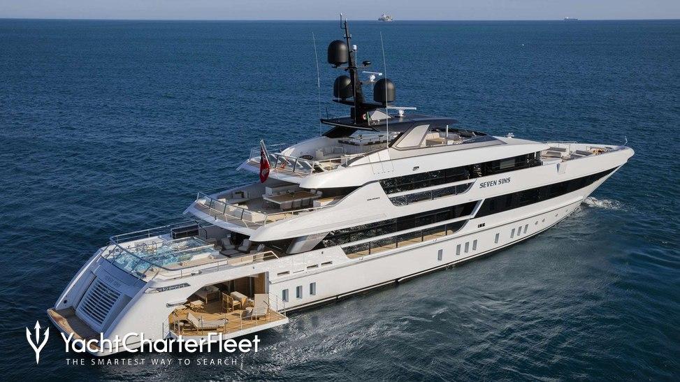 SEVEN SINS Yacht Charter Price - Sanlorenzo Luxury Yacht Charter