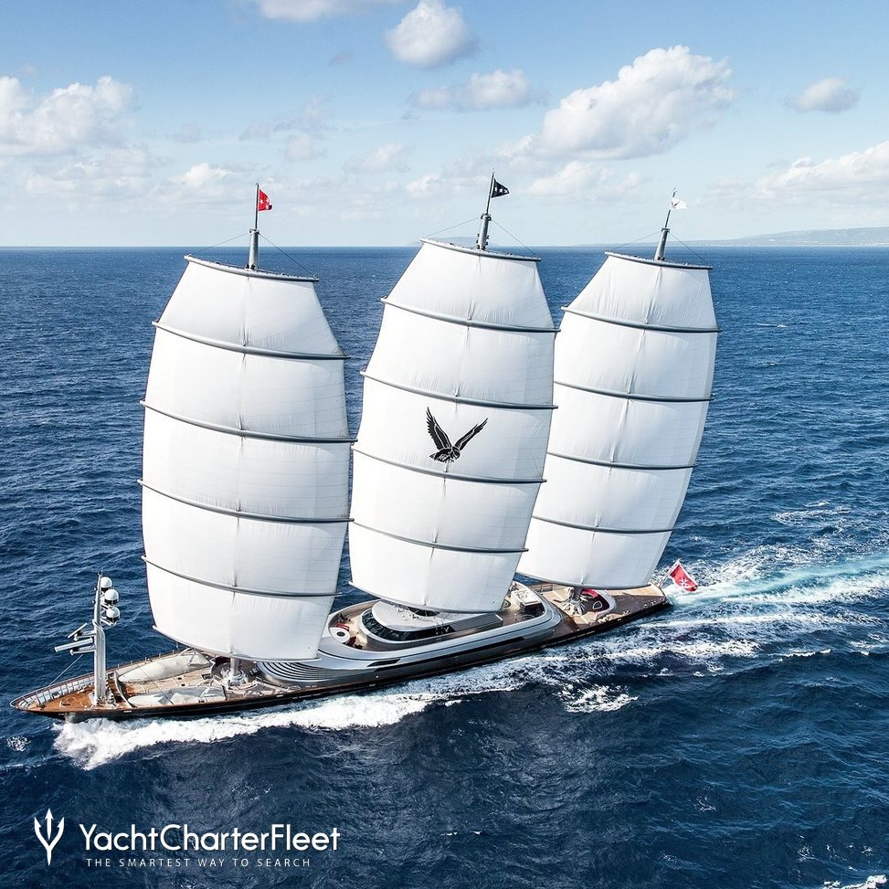 MALTESE FALCON Yacht Charter Price - Perini Navi Luxury Yacht Charter