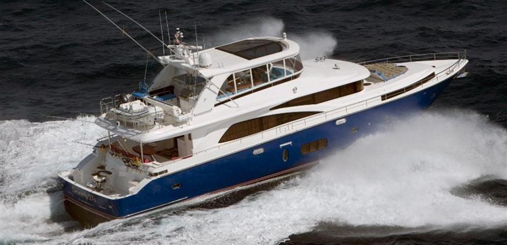 Johnson 83' FLYBRIDGE w/HYDRAULIC PLATFORM Charter Yacht