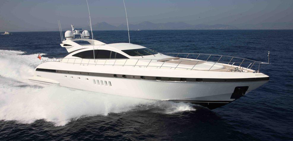 92' Mangusta Charter Yacht