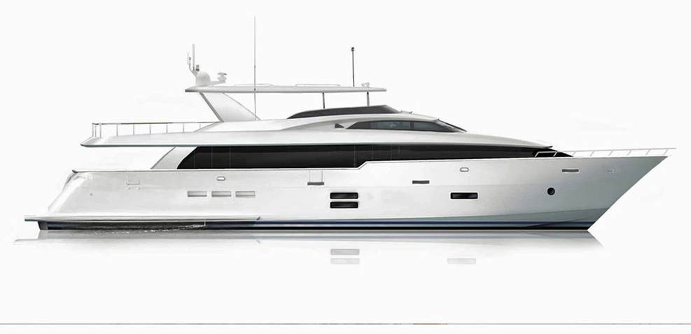 Hatteras 105RPH Charter Yacht